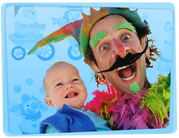 Clown hire gold coast yabadoo for Face painting clowns for birthday parties